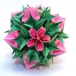 "Origami kusudama ""Roses and thorns - Stock Photo"