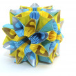 Blue and yellow flower — Stock Photo