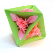 "Origami ""triangle pink flower"" — Foto de Stock"
