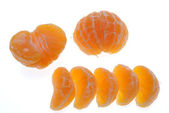 Groups of segments of a tangerine — Stock Photo