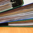 Royalty-Free Stock Photo: Stack of documents in folders