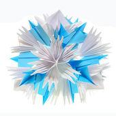 Origami kusudama snowflake — Stock Photo
