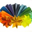 Stock Photo: Colorful origami units
