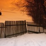 Rural winter landscape — Stock Photo