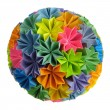 Origami kusudama rainbow - Stock Photo