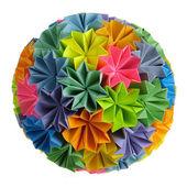 Origami kusudama rainbow — Stock Photo
