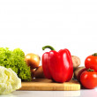 Vegetables in kitchen — Stock Photo
