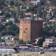 Red brick tower in Alanya — Stock Photo #1248377