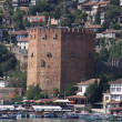 Red brick tower in Alanya — Stock Photo #1526595