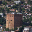 Red brick tower in Alanya — Stock Photo #1530741