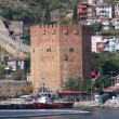 Red brick tower in Alanya — Stock Photo #1576506