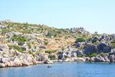 Rock and sea in Turkey — Stockfoto