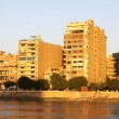 Sunset Cairo from the river Nile bridge — Stock Photo #1810282