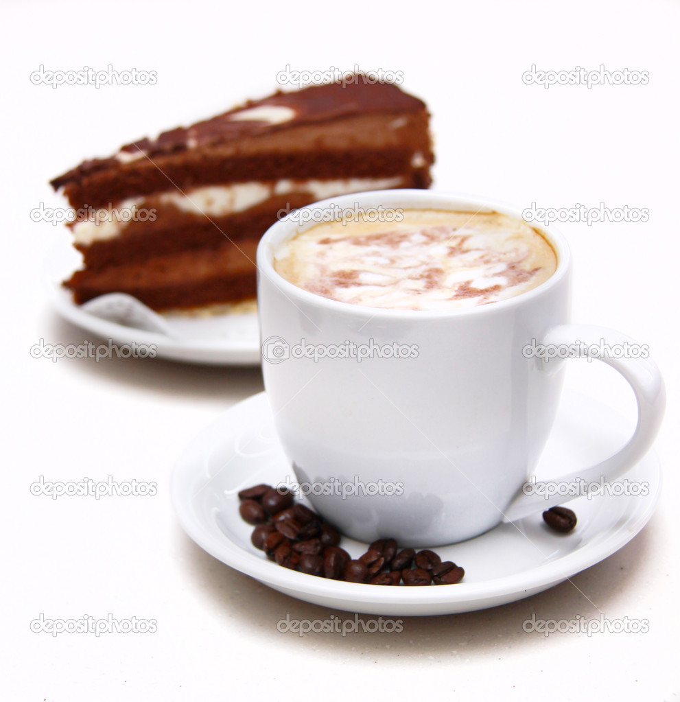 Coffee and chocolate cake  — Stock Photo #2541597