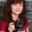 Stock Photo: Seller photographic equipment
