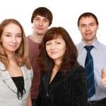 Cheerful employees — Stock Photo