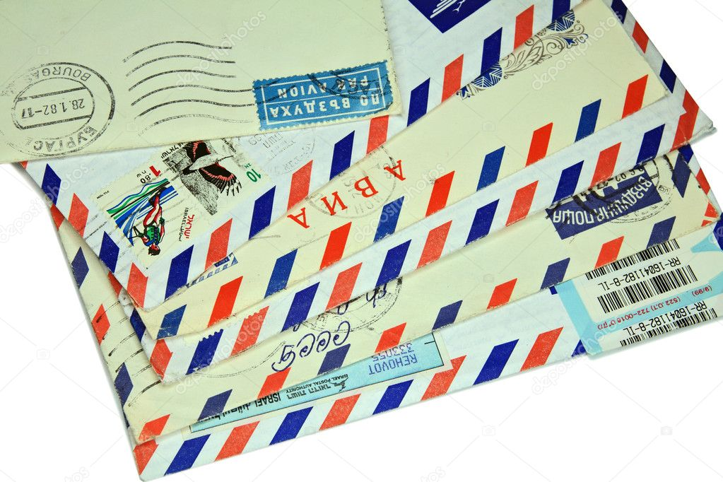 Old letters sent by air mail  — Stock Photo #1103689