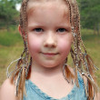 5-year-old girl with dreadlocks — Stock Photo