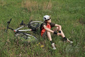 Rest of the bicyclist — Stockfoto