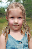5-year-old girl with dreadlocks — Stockfoto