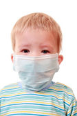 Two-years kid in a medical mask — Stock Photo