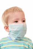 2 years kid in a medical mask — Stock Photo
