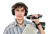 Teenage gamers — Stock Photo