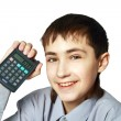 The teenager is pleased to the solved pr — Stock Photo
