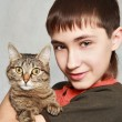 Royalty-Free Stock Photo: Boy and pet