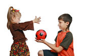 Children play with a ball — Stock Photo