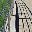 Handrail and shadows — Stock Photo
