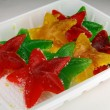 图库照片: Sestars from fruit candy
