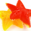 图库照片: Two stars from fruit candy