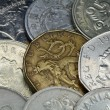Background-coin of the different countri - Stock Photo