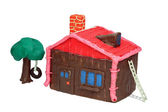 The Plasticine house — Stock Photo