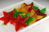 Sea stars from fruit candy — Стоковое фото
