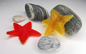 Stars from color fruit candy — Photo