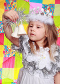 The girl in a New Year — Stock Photo