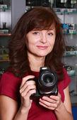 Seller photographic equipment — Stock Photo