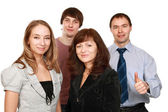 Cheerful employees — Stock Photo