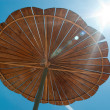 Wooden sun cover — Stock Photo