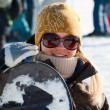 Royalty-Free Stock Photo: Snowboard girl