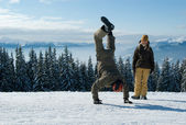 Young snowboarders — Stock Photo