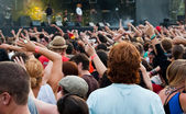 At the concert — Stock Photo