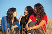 Group of beautiful asian girls — Stock Photo