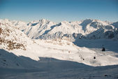 Winter landscape in Alps — Stock Photo