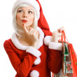 Christmas beauty Santa Claus — Stock Photo #1095236