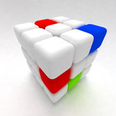 3d rubik's cube — Stock Photo
