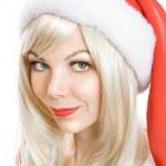 Female Santa Claus — Stock Photo #1297082
