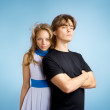 Attractive young adult couple — Stock Photo